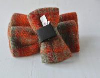 Orange and Green Plaid Harris Tweed Bow Tie